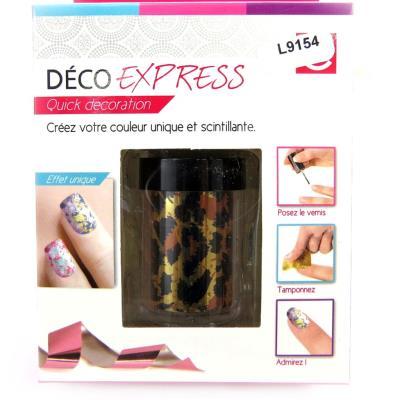 Déco express ongles 'Coloriage' léopard