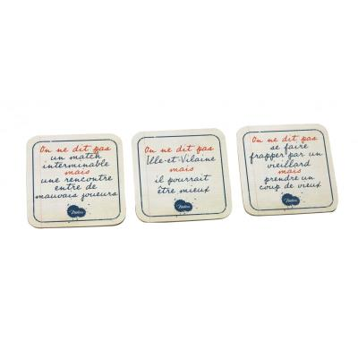 Set de 6 sous-verres On ne dit pas - Adultes Blanc