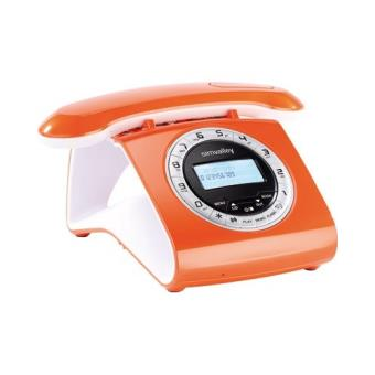 t l phone sans fil dect r tro avec r pondeur orange t l phone sans fil achat prix fnac. Black Bedroom Furniture Sets. Home Design Ideas