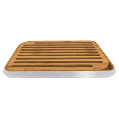 Pebbly nba043 planche à pain gris métallique 36 x 26 cm