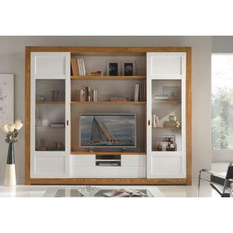 Meuble Tv Mur meuble tv mural avec portes coulissantes - achat & prix | fnac