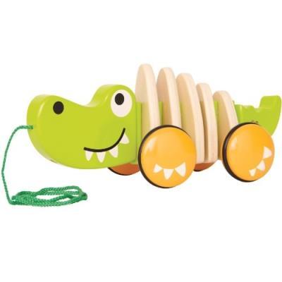 Hape - e0348 - jouet à tirer - crocodile