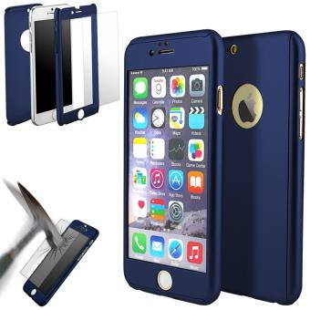 coque 360 full protection iphone 7 plus verre tremp bleu fonce dreamshop75 etui pour. Black Bedroom Furniture Sets. Home Design Ideas