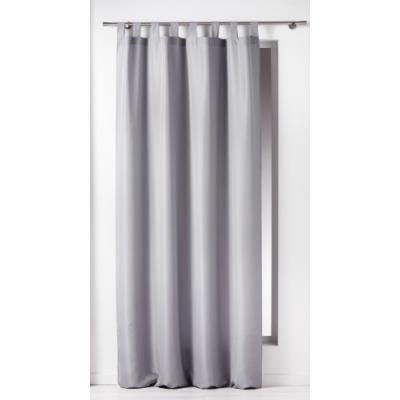 Douceur d'intérieur 1600516 rideau à passants polyester uni essentiel gris 140 x 260 cm