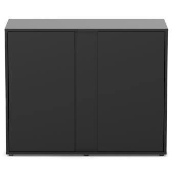 meuble elegance expert 100x40 cm 2 portes noir meubles pour aquarium achat prix fnac