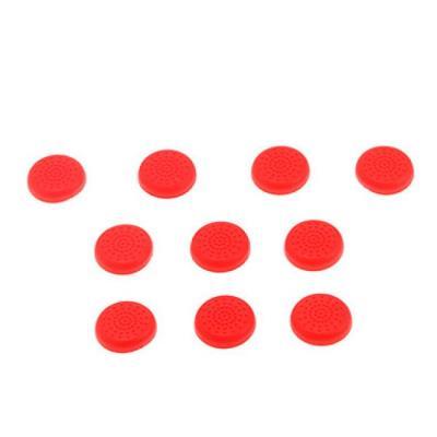 10 Bouchons de protection en TPU pour Manette PS4 Rouge