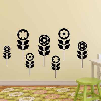Pick and Stick Sticker Mural Vallée de l'enfant - 25 x 35 cm, Noir