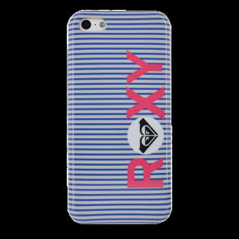 APPLE iPhone 5C Coque rigide roxy rayee bleue et blanche d origine quiksilver iphone 5c