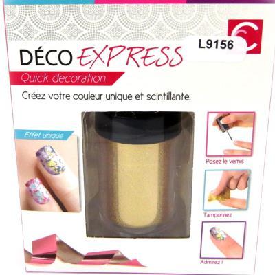 Déco express ongles 'Coloriage' doré