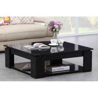 Table brillant basse noir MANHATTAN carrée Achatprixfnac kXZwONn0P8