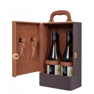 Coffret vin 2 accessoires pour 2 bouteilles de votre choix CC3