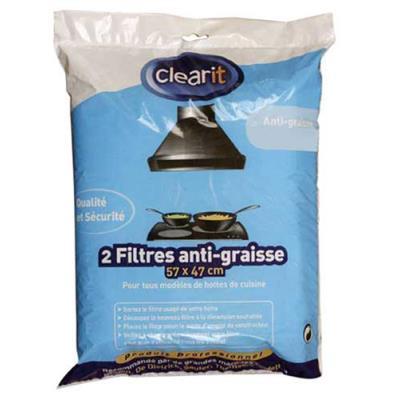Clearit Filtres De Hottes Anti-graisse 140g/m² Ref: 71s7824