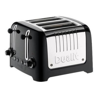 Dualit Lite 46225 - Grille-pain -électrique - 4 tranche - Noir ultra brillant