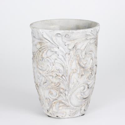 Table Passion - Cache-Pot - Vase Romance Motif Floral H22 D17