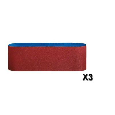 Bosch Bande abrasive Best for Wood, 3-pièces, 75 x 480 mm, 60, 80, 100