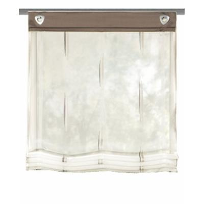 Home fashion 91357-860 paroi japonaise avec œillets pierre gris 140 x 60 cm