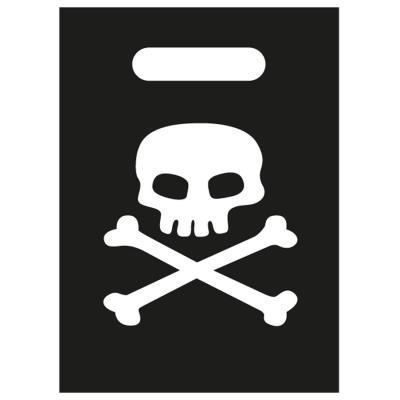 Pochettes à cadeaux pirates tète de mort (x8)