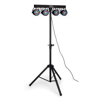ibiza djlight80led set projecteurs par sur pied rgbw led dmx 4x 1w jeux de lumi re top prix fnac. Black Bedroom Furniture Sets. Home Design Ideas