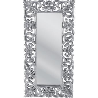 miroir design italien baroque argent 180x90 achat prix fnac - Miroir Design