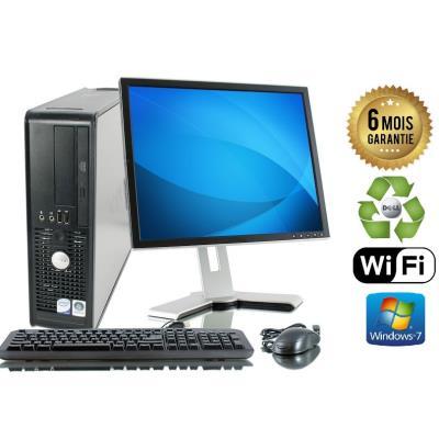 Unite Centrale Dell 780 SFF Core 2 Duo E7500 2,93Ghz Mémoire Vive RAM 4GO Disque Dur 250 GO Graveur DVD Windows 7 Wifi - Ecran 19(selon arrivage) - Processeur Core 2 Duo E7500 2,93Ghz RAM 4GO HDD 250 GO Clavier + Souris Fournis