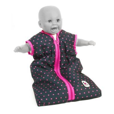 Bayer Chic 2000 792 12 Sac de couchage pour poupées. Marine et rose à pois