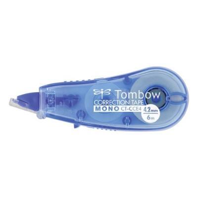 Tombow rouleau correcteur jetable mono cce 4,2mm x 6m bleu ct-cce4-be