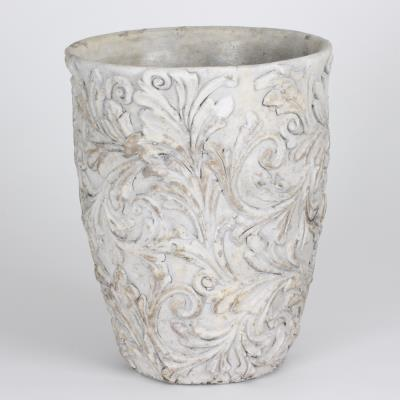 Table Passion - Cache-Pot - Vase Romance Motif Floral H26 D21