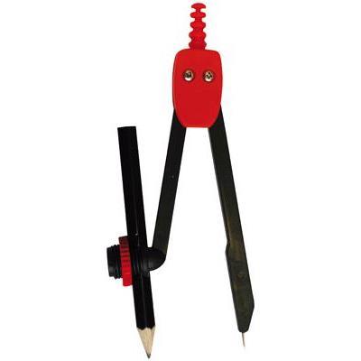 Compas scolaire à bague universelle + crayon - Boite de 12