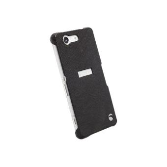 Krusell Malmö TextureCover MfX - Achterzijde behuizing voor mobiele telefoon - plastic - zwart - voor Sony XPERIA Z3 Compact