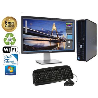 Unite Centrale Dell Optiplex 380 SSF Intel Celeron E3300 2,5Ghz Mémoire Vive RAM 8GO Disque Dur 320 GO Graveur DVD Windows 7 Wifi - Ecran 22(selon arrivage) - Processeur Intel Celeron E3300 2,5Ghz RAM 8GO HDD 320 GO Clavier + Souris Fournis