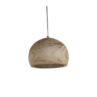 suspension ronde en bois style scandinave plafonnier de forme sphrique en bois naturel luminaire suspendu en bois 25 cm culot e27 achat prix - Luminaire Style Scandinave
