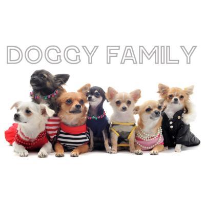 Tapis imprimé 57x115cm DOGGY FAMILY