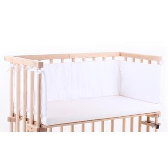 Matelas et Tour de lit blanc berceau cododo Babybay Midi Mini ...