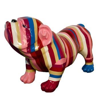 Statue Bulldog Fashion - Sculpture en résine - Deco Maison Jardin ...