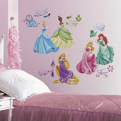 Joy toy 21990 disney princesses autocollant mural plastique multicolore 50 x 50 x 1 cm