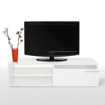 kikua meuble tv 130 cm blanc brillant meuble tv achat prix fnac. Black Bedroom Furniture Sets. Home Design Ideas