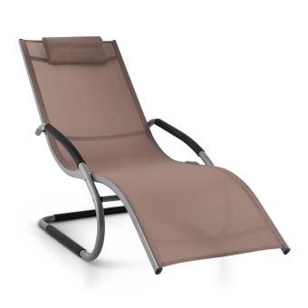 7491 sur blumfeldt sunwave chaise longue transat relax aluminium taupe mobilier de jardin achat prix fnac - Chaise Longue Transat