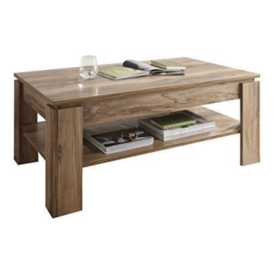 Maisonnerie 1100-112-60 montreal table basse noyer finition satinée lxlxh 110 x 65 x 47 cm