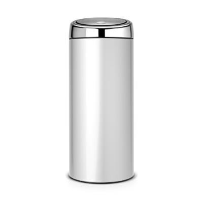 Brabantia 287404 poubelle touch bin 30l avec seau intérieur plastique metallic grey