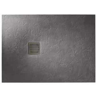 receveur extra plat roca terran 140x90 anti d rapant gris. Black Bedroom Furniture Sets. Home Design Ideas