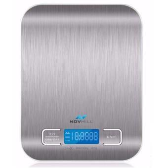Novhill balance de cuisine electronique 5kg 1g haute pr cision tactile acier inoxydable - Balance de cuisine precision 0 1g ...