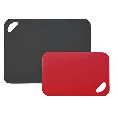 Moha 309267 flex&stable planche à découper pe eva noir rouge 38 x 0,5 x 29 cm 41216