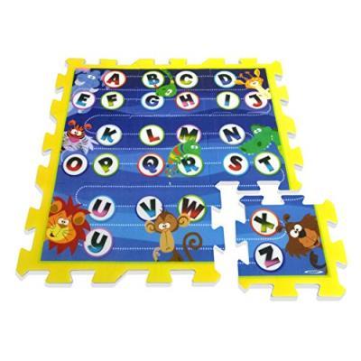 Stamp - tp674002 - puzzle de sol - j'apprends l'alphabet en m'amusant - tapis mousse - 88 x 88 x 1,5 cm - 9 pièces