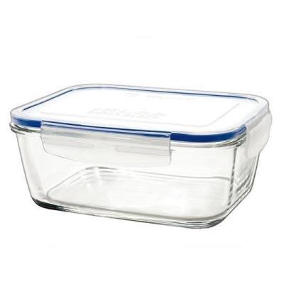Unbranded 8012718 superblock boîte rectangulaire avec couvercle verre transparent 14 x 9,5 x 6 cm 150 cl quiselle szpo 015