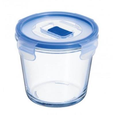 Luminarc boite ronde pure box active 84 cl transparent + couvercle transparent et bleu frp0098351