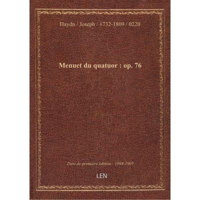 Menuet du quatuor : op. 76