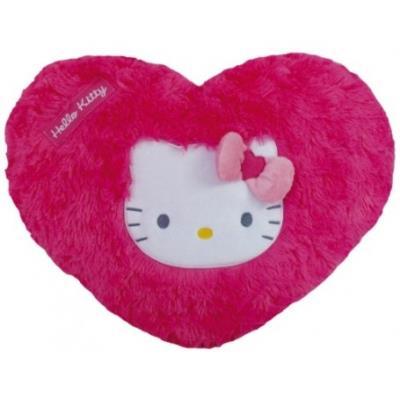 Coussin coeur en peluche hello kitty 35cm