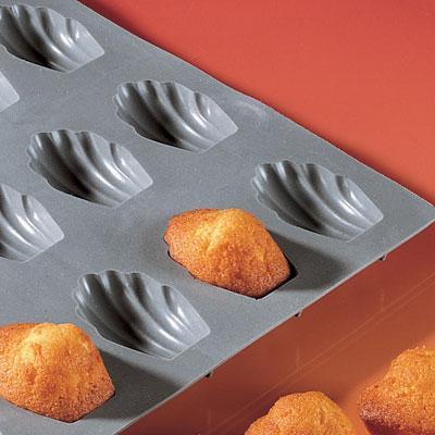 Elastomoule - moule en silicone - Portions Madeleine 300 x 176, soit 9 alvéoles