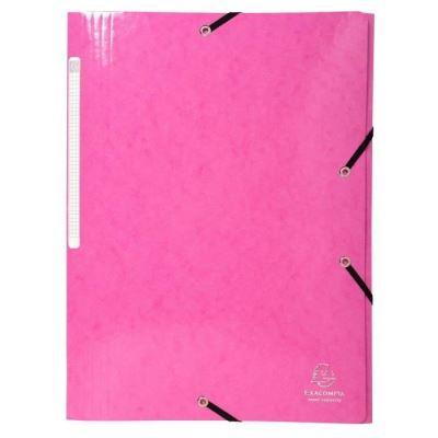 Chemise à 3 rabats et à élastiques A4 Iderama, 300 feuilles, 240 x 320 mm, carte avec polypropylène, Rose