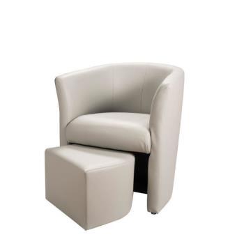 baya fauteuil cabriolet gris clair pouf achat prix fnac. Black Bedroom Furniture Sets. Home Design Ideas